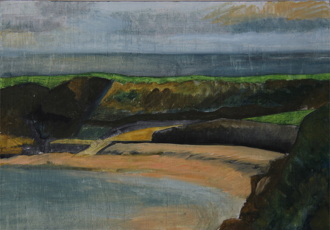 Cullercoats I  oil on plywood