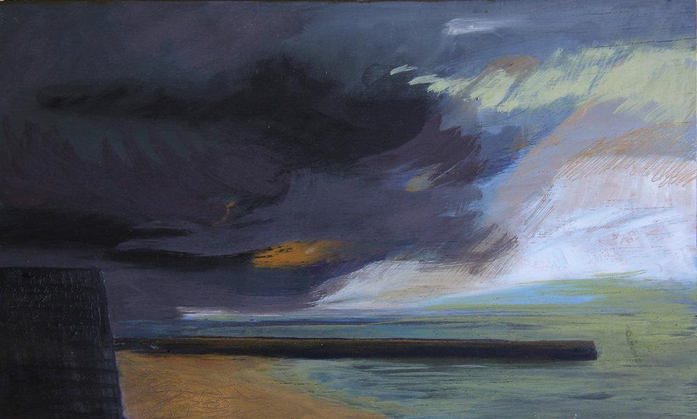 Pier, Grey Sky