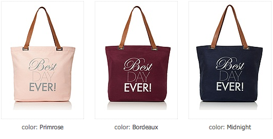 Best Day Ever Tote available at Mira Bridal Couture