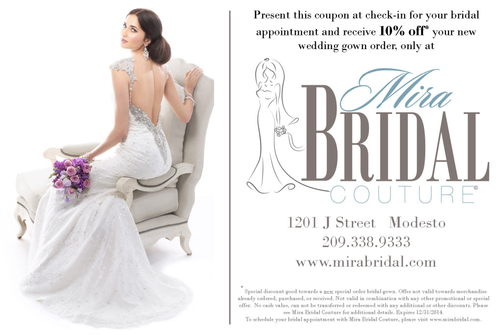 Wedding Loft Coupon for Mira Bridal Couture