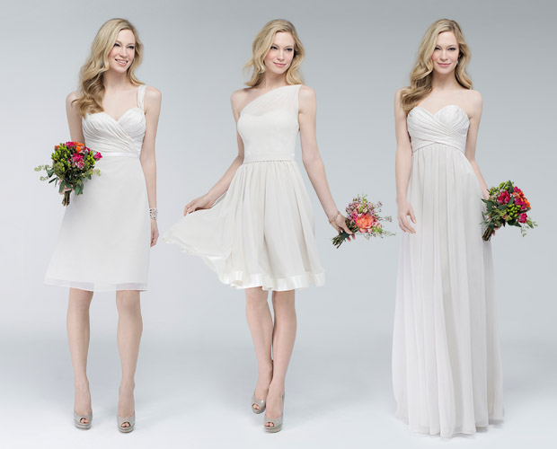 WATTERS MIN AND MATCH BRIDESMAIDS AT  MIRABRIDAL.COM