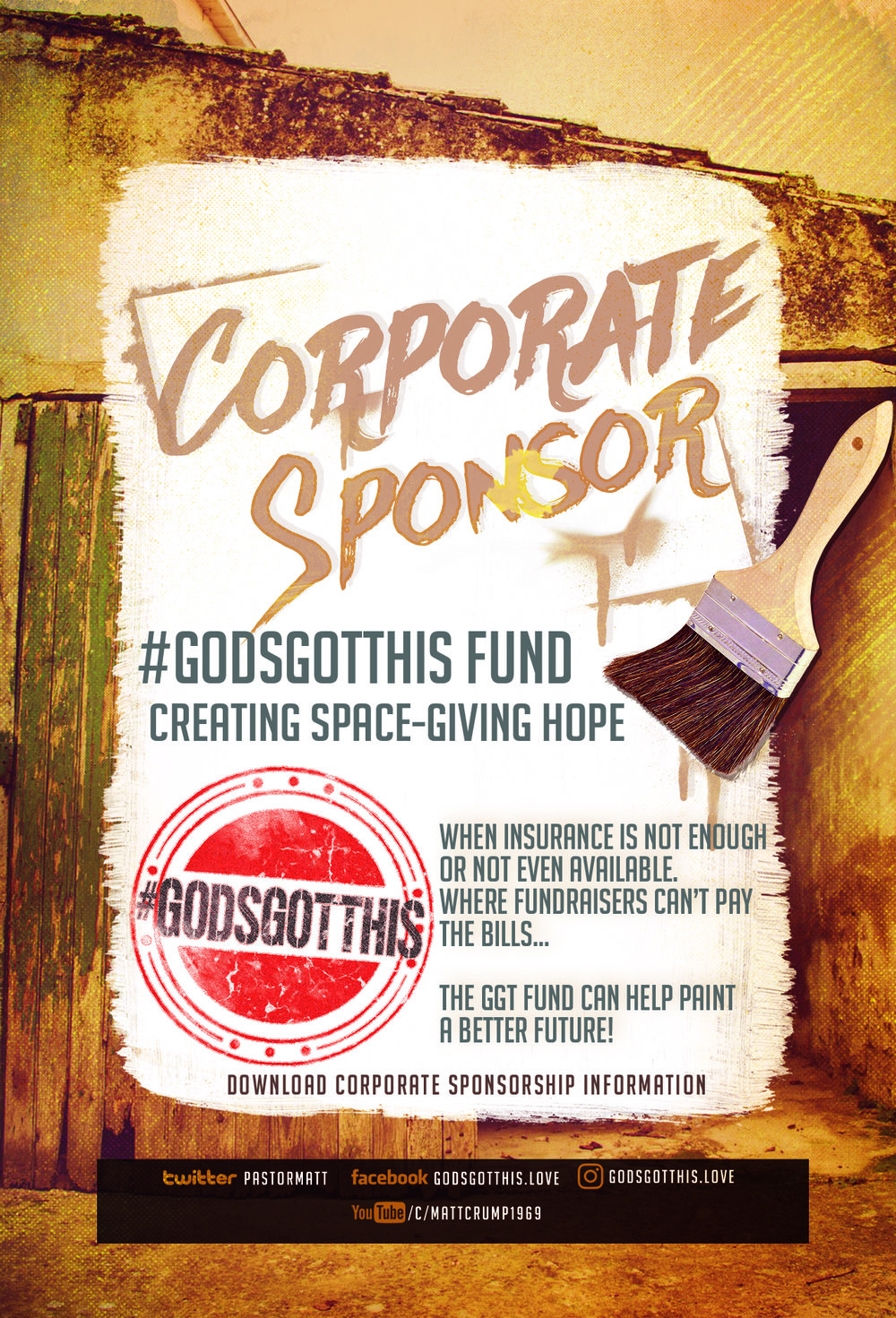 YOU CAN HELP THOSE THAT REALLY NEED THE HELP. ALL GIFTS ARE TAX DEDUCTIBLE. PLEASE MENTION THE GOD'S GOT THIS FUND FOR CORPORATE SPONSORSHIPS.
