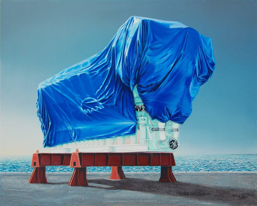 Man . Huile sur toile, 130 x 162 cm.