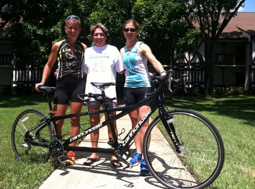 Lindsay, Diane, and me (trying to be brave while learning how to handle Black Betty)