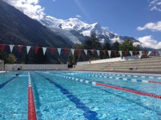 What's better than outdoor 50m pool surrounded by mountain beauty!