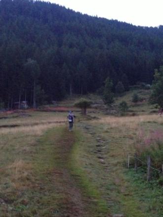 Pam making her way to Vallorcine