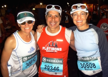 Me, Henry, Marisa before the Comrades start