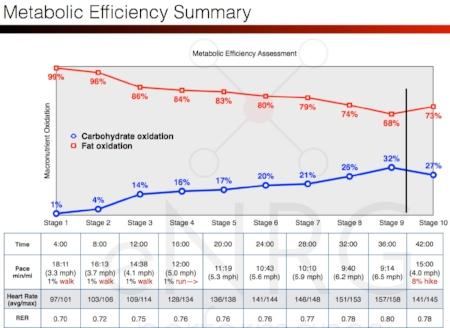 My metabolic efficiency status, December 2016