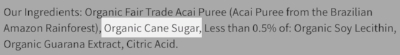Purchase açaí purees without added sugar