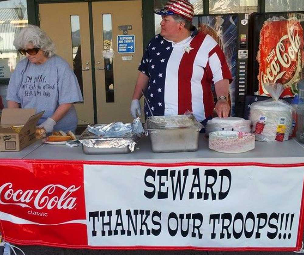 Thank the troops -
