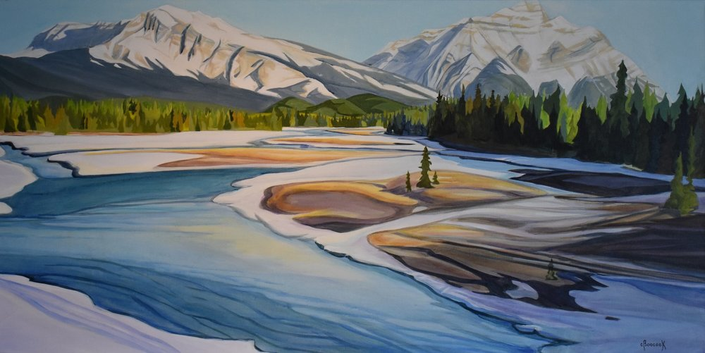 Spring at Last - Athabasca River Series