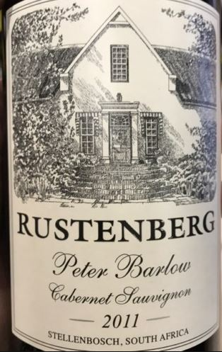 Episode 12: Rustenberg Cabernet Sauvignon Peter Barlow South Africa