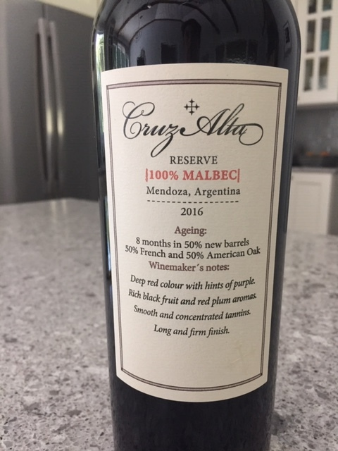 Episode 29: Cruz Alta a Malbec Reserve from Argentina