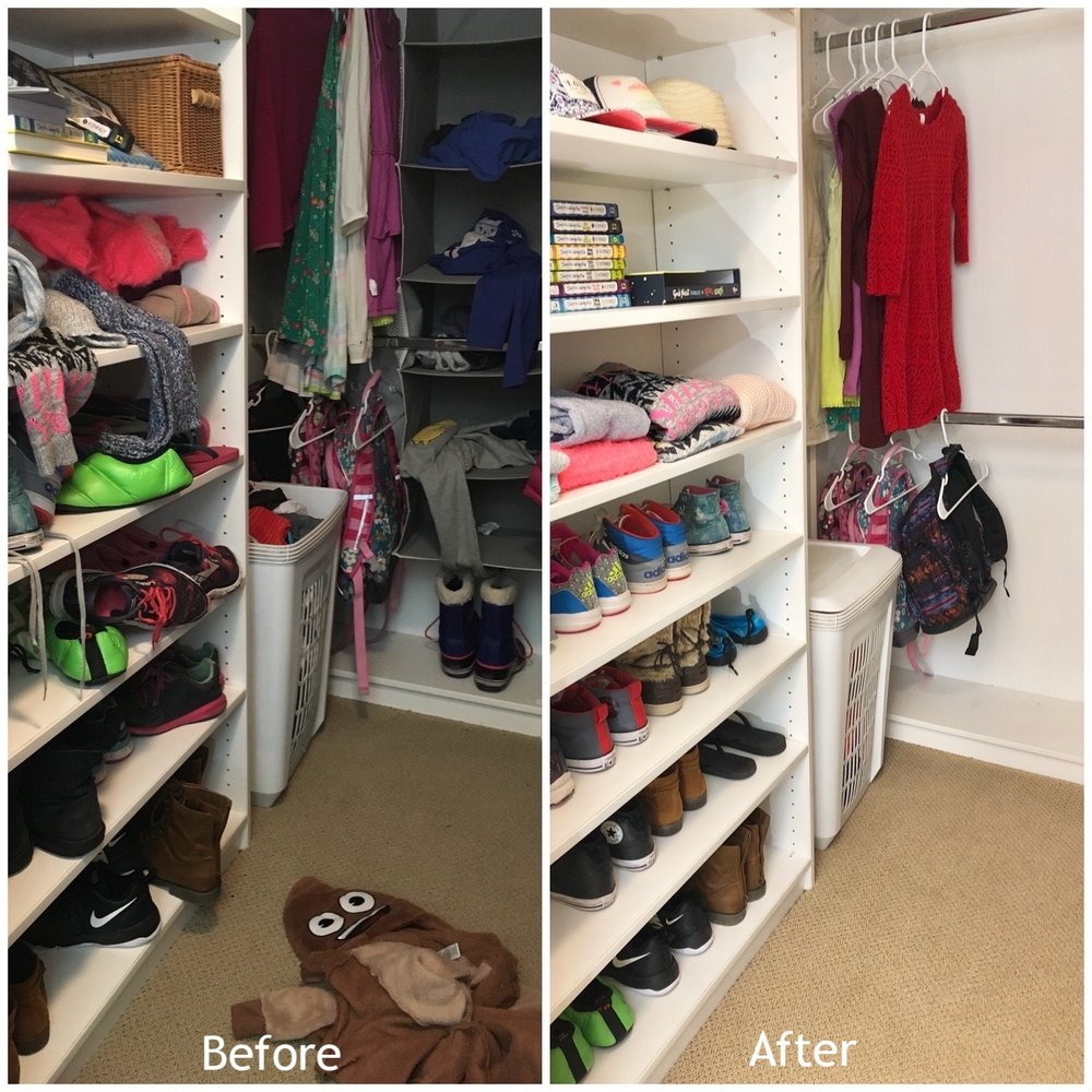 After decluttering a closet, it can feel like a new space.