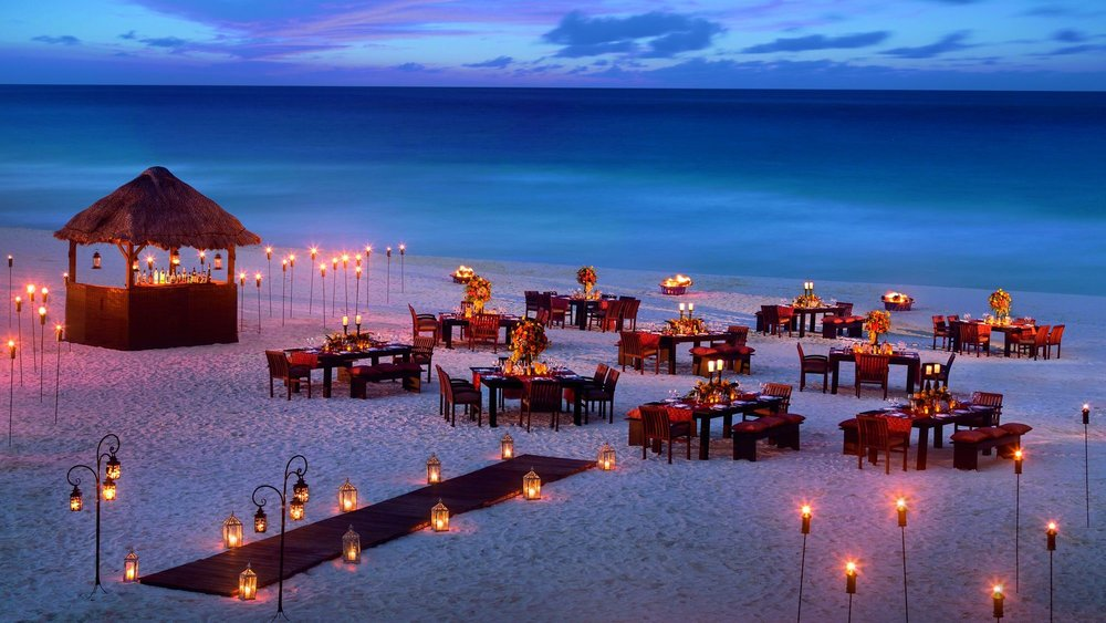 Beach Receptions Indian Destination Wedding Cancun Dreams AM Resorts.jpg
