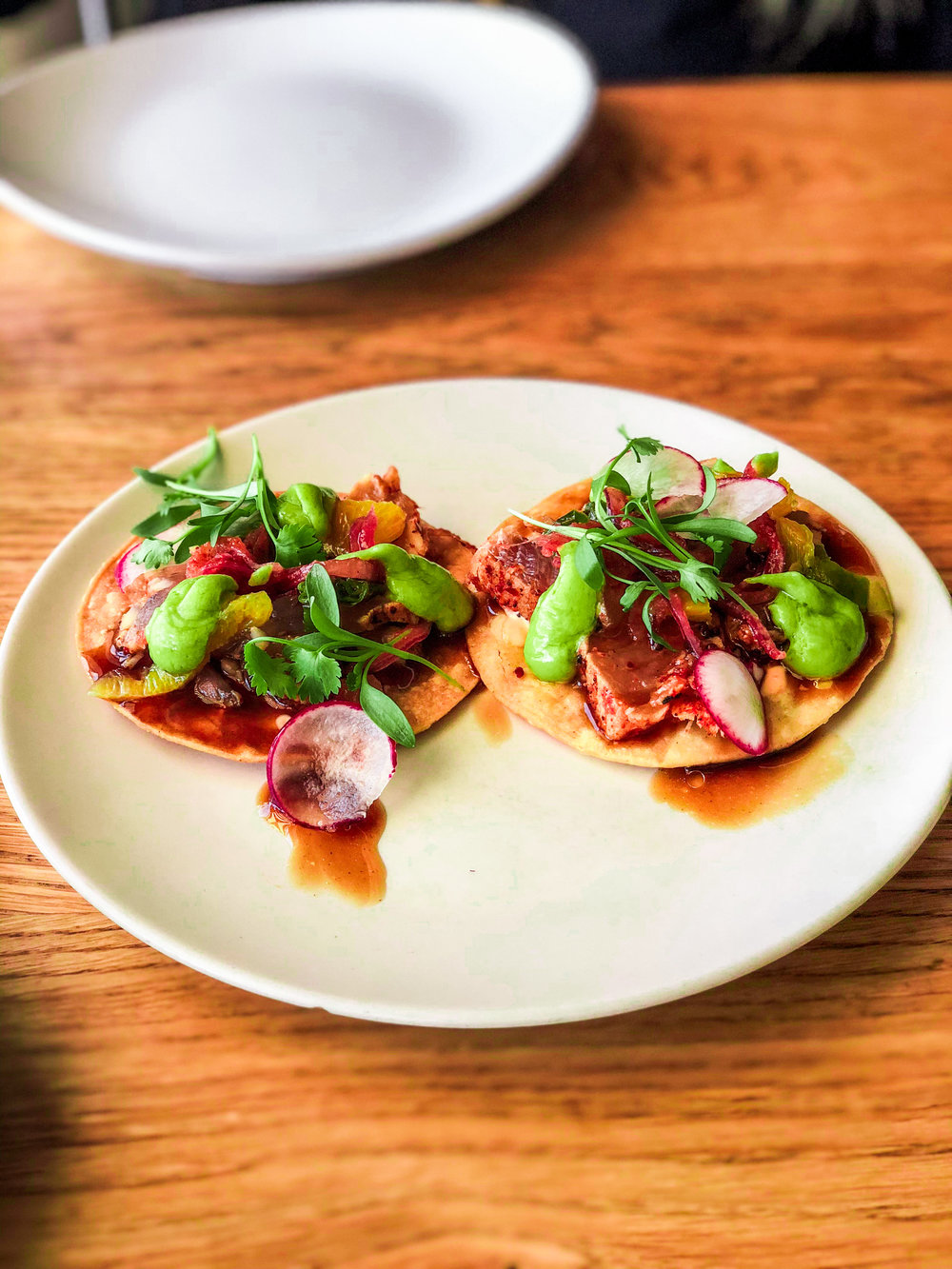 Seared Albacore Tostada