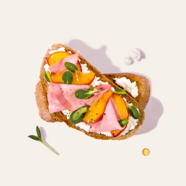 Honey Cured Ham Bruschetta