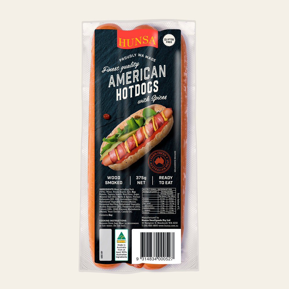 American Hot Dogs with Spices 375g