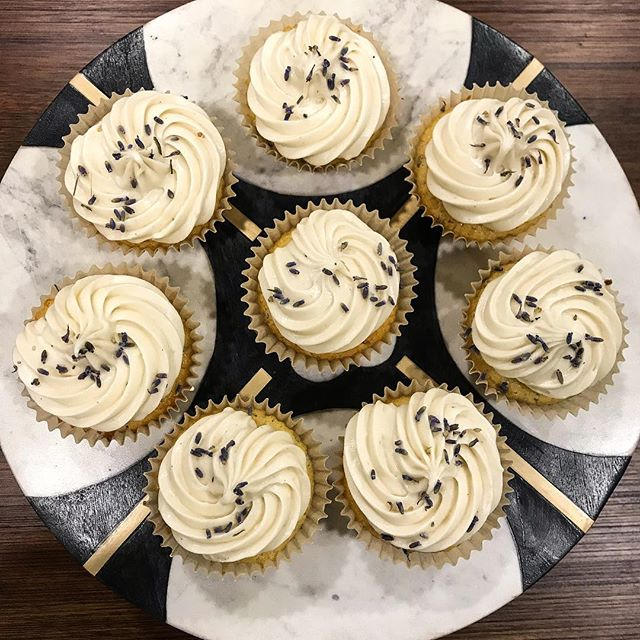 This beautiful weather has me dreaming of eating these lavender honey cupcakes that I made last week . . . . . . #baking #cupcakes #lavender #lavenderhoney #lavenderhoneycupcakes #desserts #cupcake #lifestyle #lifestyleblogger #lifestyleblog #blog #blogger #sweets #honey