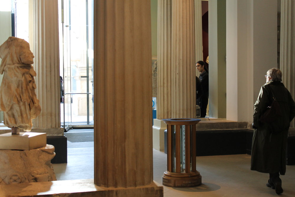Leaving the Ashmolean Museum