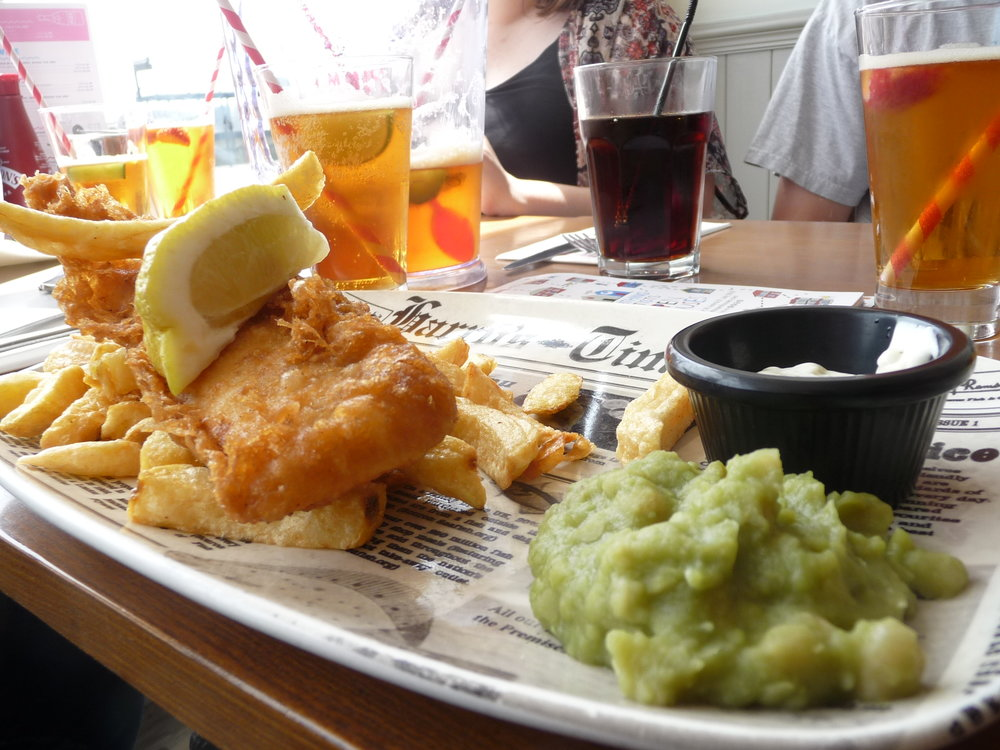 Fish and Chips at Harry Ramsden's Worthing UK