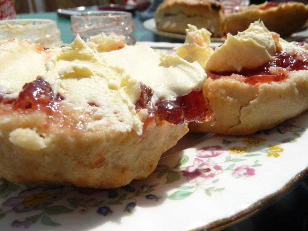 Scones with Jam and Cream at The Vintage Tea Room in Worthing