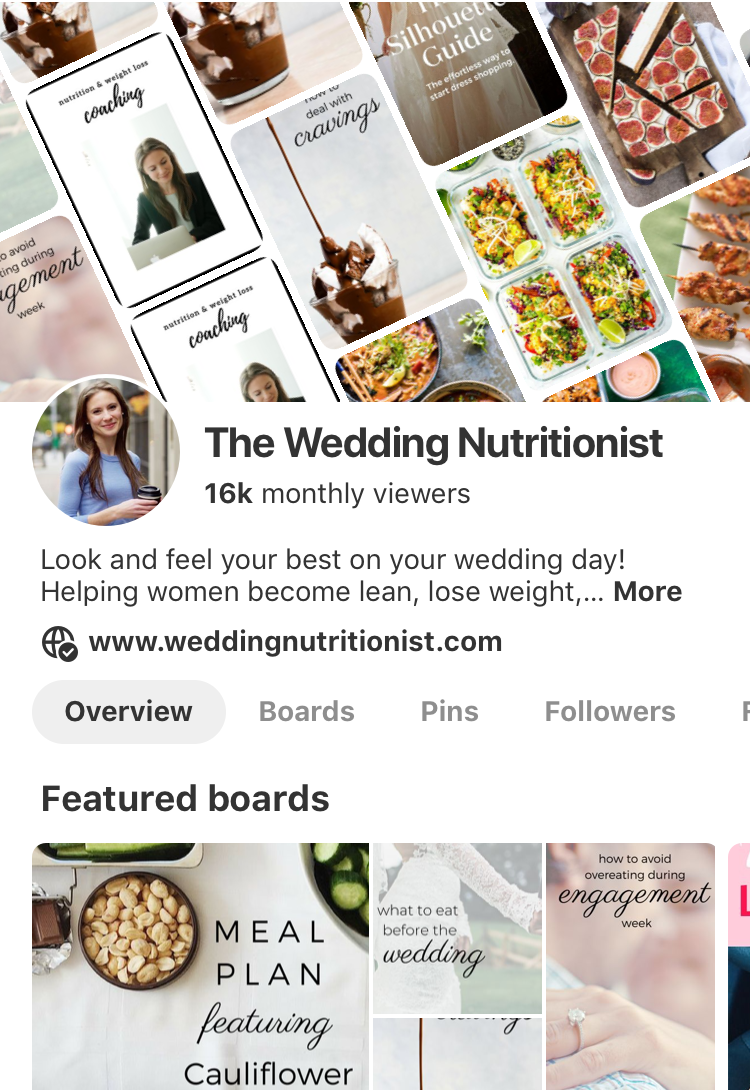 wedding nutritionist pinterest