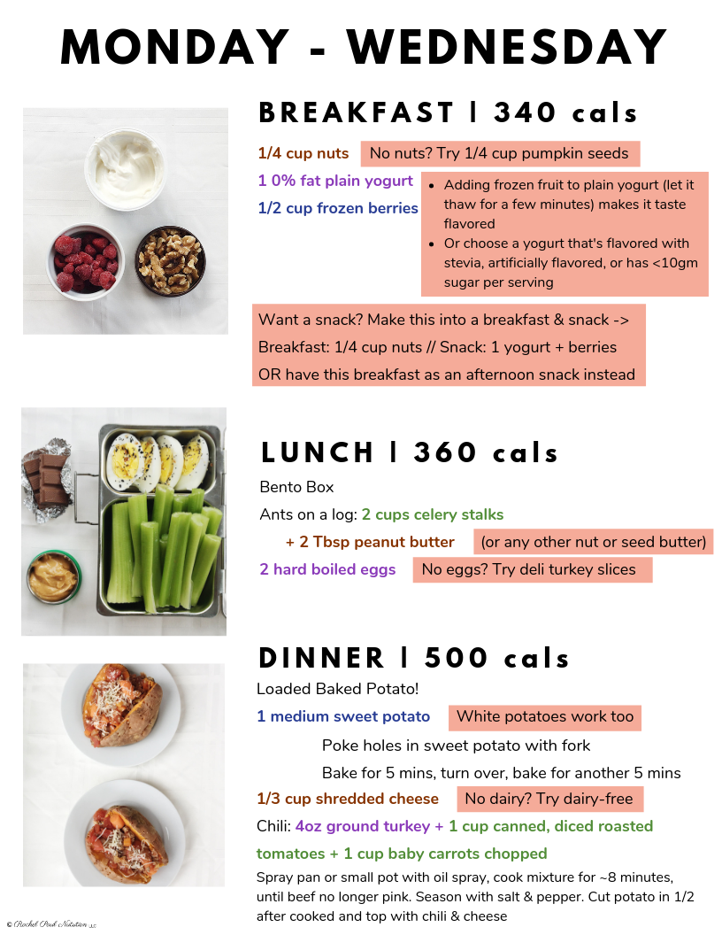 1 Week Meal Plan to Lose Weight for Your Wedding