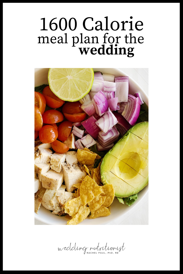 1600 Calorie Meal Plan For Wedding Weight Loss The Wedding Nutritionist