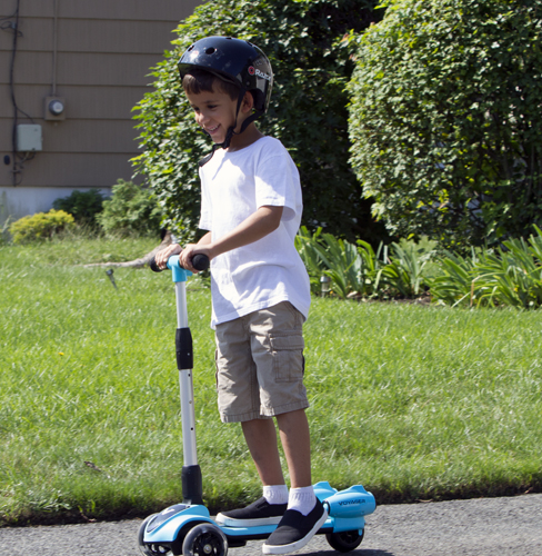 Tons of Fun! - The streamer push scooter is tons of fun and brings a smile to your little ones face with the light up mist, and built in sounds and lights!