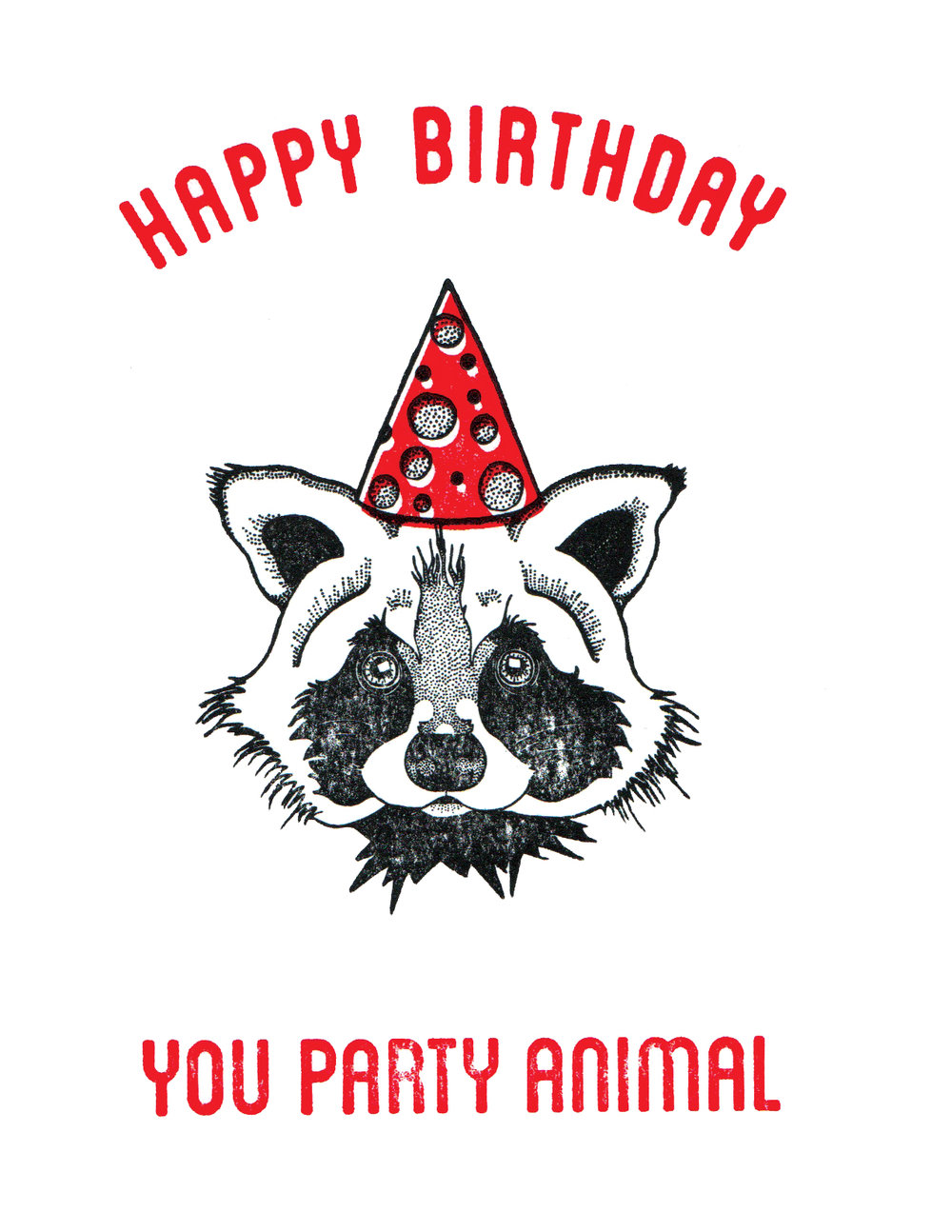 Party Animal - Raccoon Print