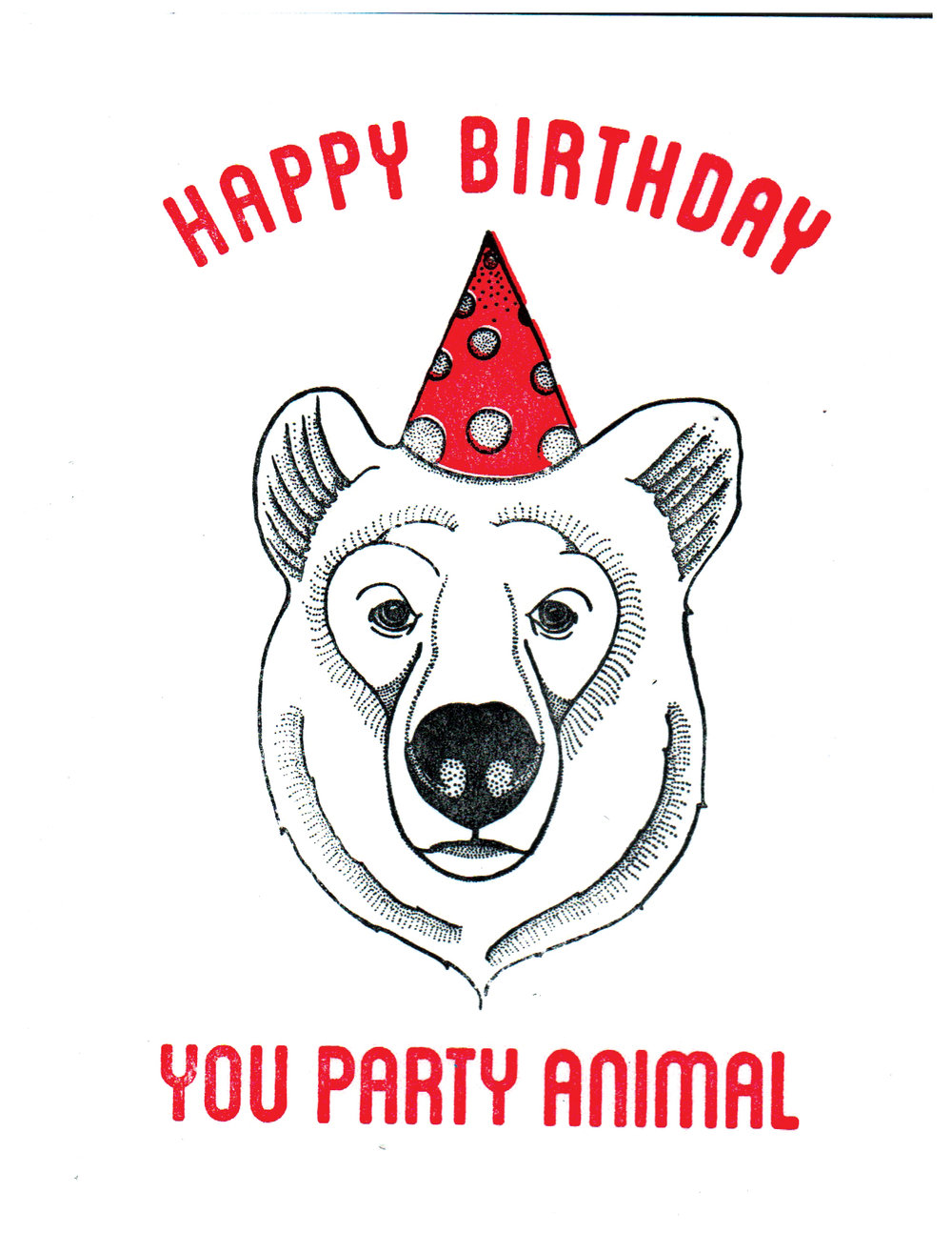Party Animal - Bear Print