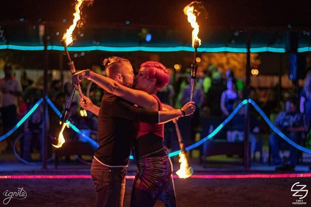 Valentine's Day is all about showing #appreciation for your #partner; whether #lover, #flowmate, or #friend.  So here's to all of you. Thank you for being on this #crazy amazing #adventure with us. ❤️❤️❤️ . . . #partnerpoi #valentinesday #vday #igniteartco #partnerflow #love #community #friendship . . . 📸: @sdotzphotography & @drewliophoto