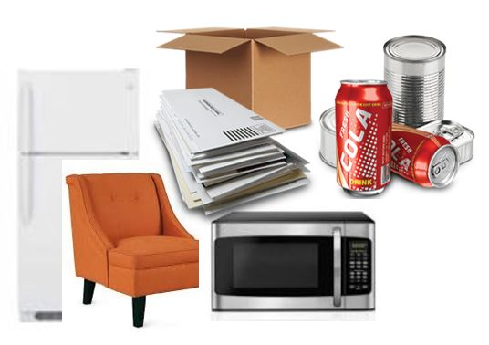 ACCEPTABLE BULK ITEMS (Mondays) - MattressesMetals (Grills, bicycles, chairs, mowers)Bed FramesFurniture, Couches (2-man carry)LampsTelevisionsSmall Electronics (DVD players, computers)Ceiling fansMicrowavesAppliances(Dishwashers, dryers, washers, stoves,refrigerators [must be officially tagged