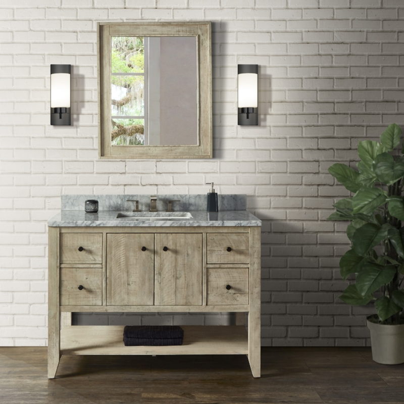"""River View 48"""" Vanity - Toasted Almond"""