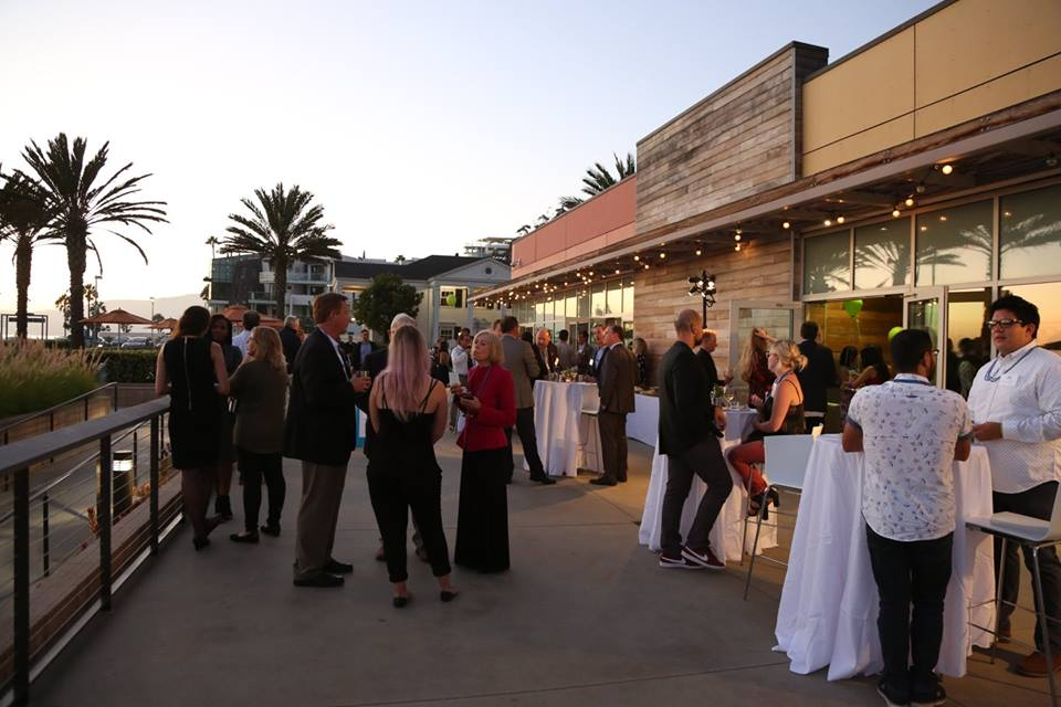 Casual nonprofit cocktail event and fundraiser in Santa Monica