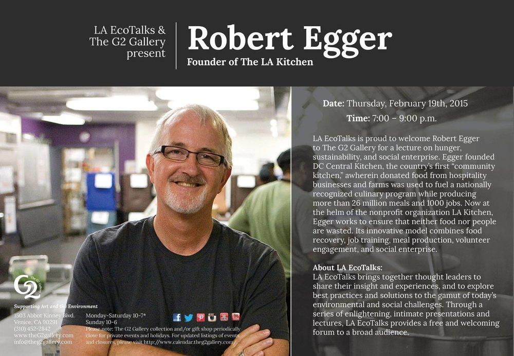 Speaker series in Venice featuring Robert Egger, founder of LA Kitchen