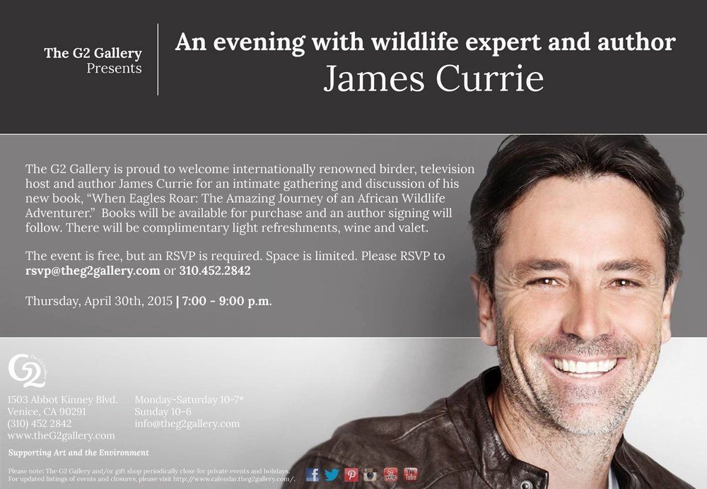Speaker series in Venice featuring author and wildlife expert James Currie
