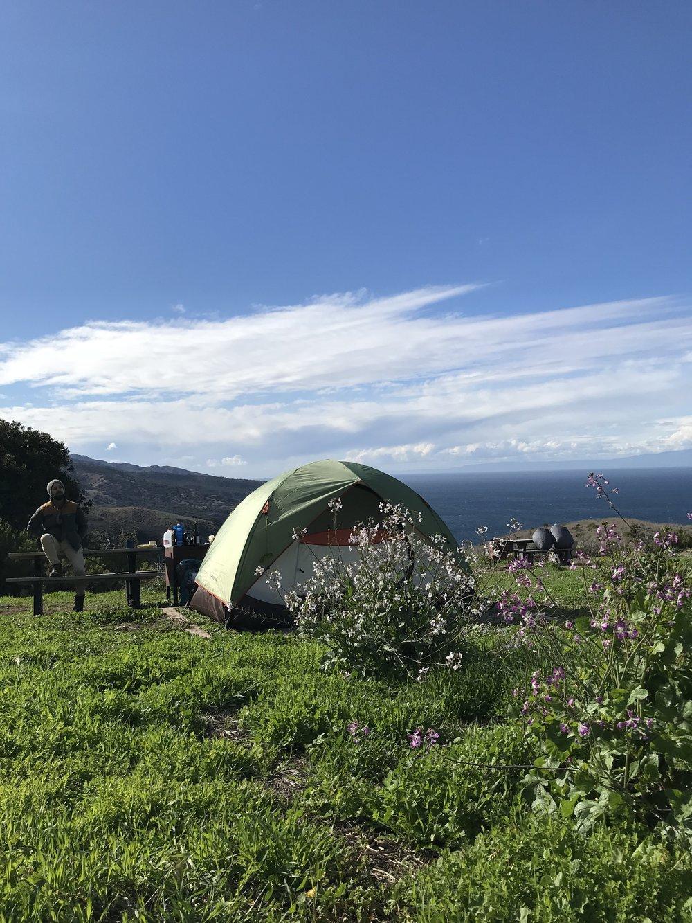 Our campsite at Del Norte
