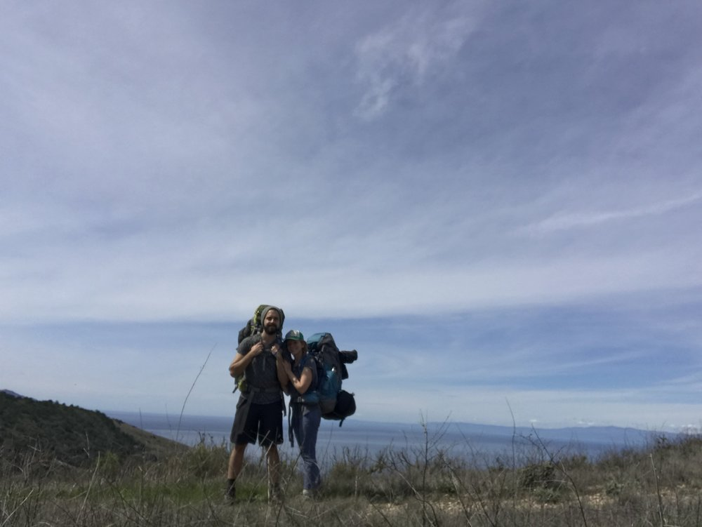 Just before our ascent up Montañon Ridge
