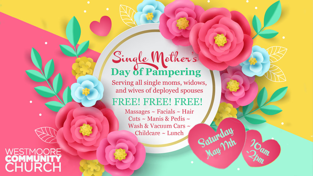 Single Mother's DAy of Pampering - Sign up here!