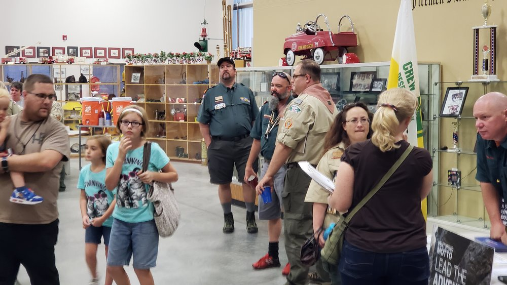 Scouters throughout Tooele County came out to the townhall held at the Utah Fire Museum.