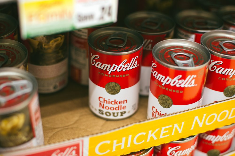 Canned food items are the best item to donate to  Scouting For Food .