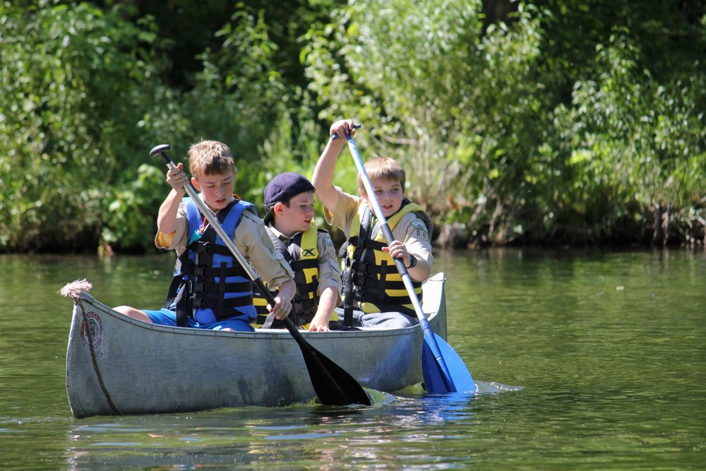 For many years, the first canoe experience for Scouts was on Taylor Lake at Camp Tracy. Many of those Scouts were participating as 11-year-old Scouts.