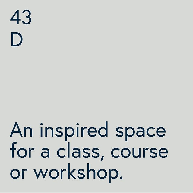 43D is the perfect learning environment, it feels calm but inspiring at the same time. You can hire it hourly or daily for a class, course or workshop. — Link in bio for info and hire rates. Concept by @jacand_co