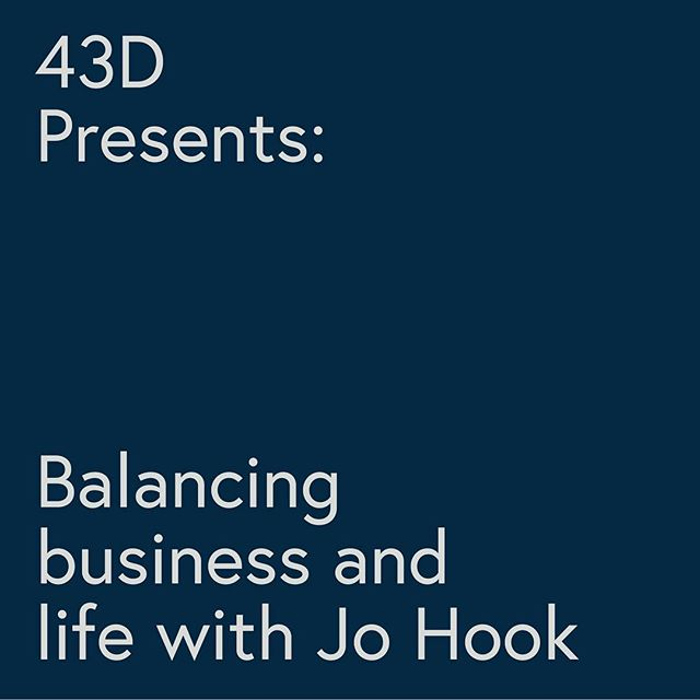 43D Presents: Balancing business and life with Jo Hook — We're incredibly excited to announce our very first partnered event! Join us on the 21st of September for an in-depth 3-hour workshop with @johooksolutions, designed to help you challenge your thoughts and approach to small business. This is a rare opportunity to learn from Jo and peers in an intimate group setting (spaces limited to 12 people). — Learn more and buy a ticket via link in bio