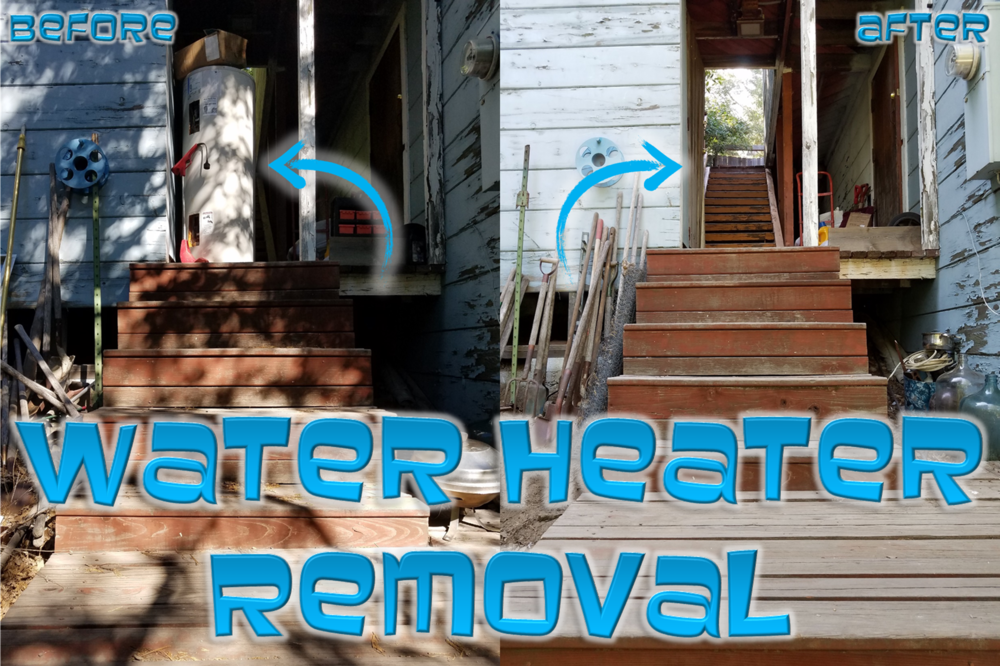 Water heater removal by Junk Grabberz.