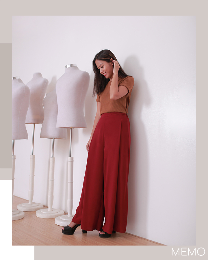 TEE P599, WIDE-LEGGED TROUSERS P1099