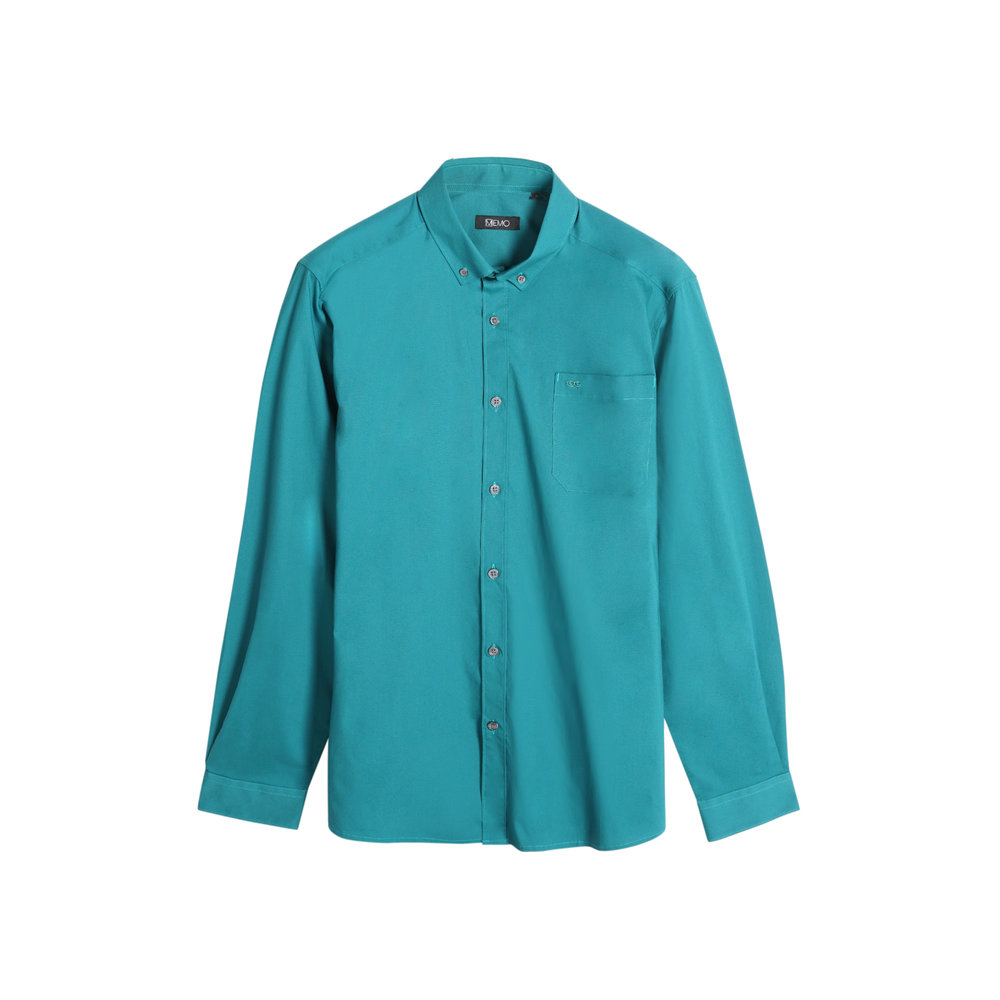 Fresh pops of colors will never let you down just like this green Poplin shirt.  Poplin Shirt with Button-Down Collar (P899)