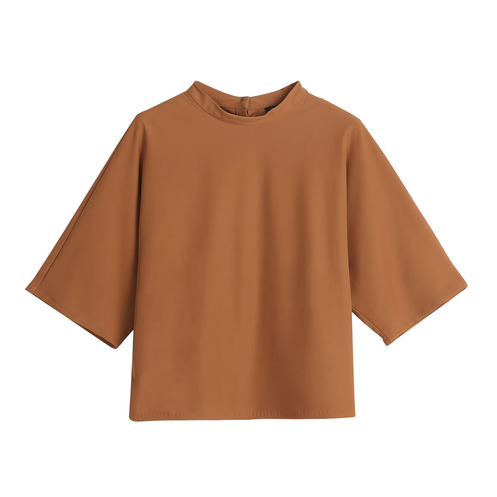 MOCK NECK QUARTER SLEEVED TOP.jpg